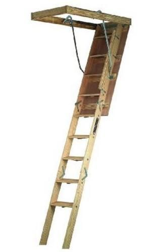 Louisville Ladder Cs254p Folding Attic Ladder Wood 25 5 X 54 Attic Ladder Attic Stairs Attic Renovation