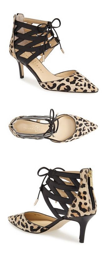 Fierce leopard print corset lace up pointy pumps @nordstrom http://rstyle.me/n/pmppdnyg6