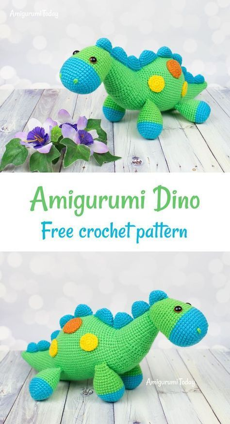 CROCHET PATTERN in English - Tim the Lovely Dinosaur - 9