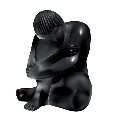 Lalique glass nude figure - Statue Nu Sage, signed