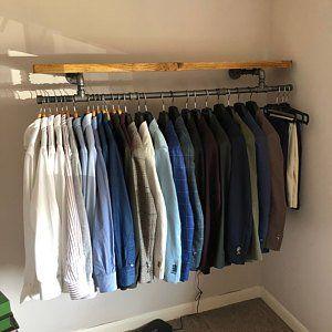 Handmade Urban Industrial Coat Rail Scaffold Clothing Rack