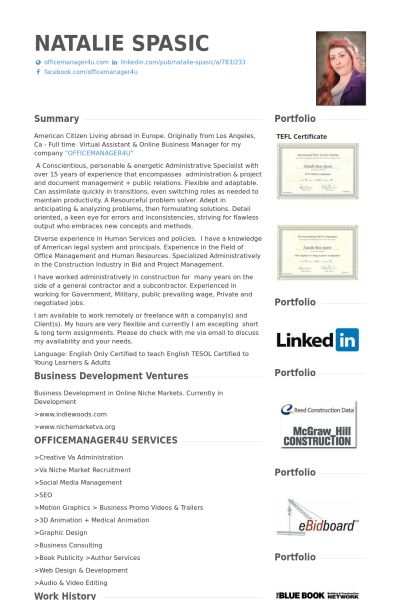 virtual assistant \ business manager  ceo Resume Example - ceo sample resume
