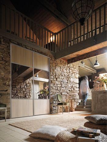 Form H 247 5 X L 92 2 Cm Decor Chene Nordique Partition Miroir Maison Logement Interieur Port Avec Images Placard Coulissant Porte Placard Coulissante Placard