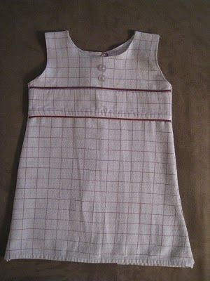Upcycle Flannel PJ's into toddler dress.  Cute dress inspiration for some flannel I have.
