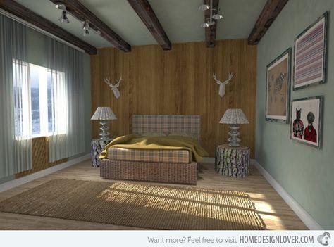 Freigelegte Dachbalken In Schlafzimmer Designs Modernes