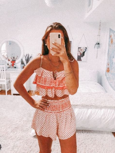 Preppy Summer Outfits, Summer Outfits For Teens, Cute Outfits, Two Peice Outfit, Greece Outfit, Florida Outfits, Teen Fashion Outfits, Preppy Style, Women