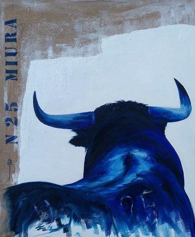 Tableau Peinture Toro Taureau Tauromachie Miura Numero 25
