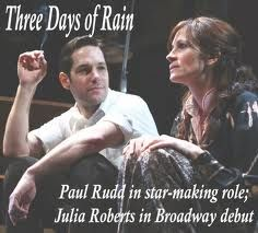 Julia was was awesome and beautiful in this. Paul was perfect, and Bradley Cooper was irresistible. At curtain call Julia gifted the audience with her trademark smile. This was before Bradley became uber famous.