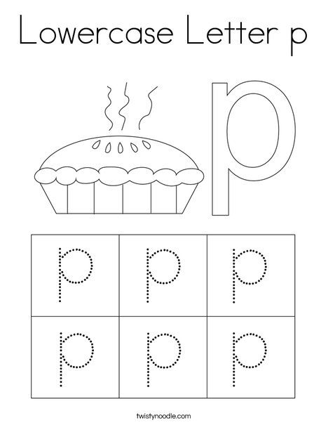 Lowercase Letter P Coloring Page Twisty Noodle Lower Case Letters Lowercase A Lettering