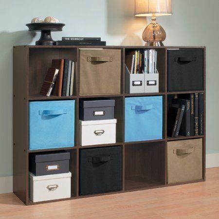 Closetmaid 12 Cube Organizer Espresso In 2020 Cube Bookcase Cube Organizer Cube Storage