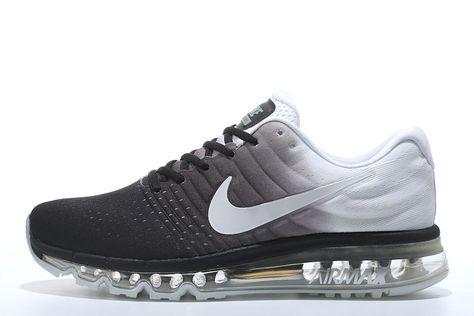 online store ad498 44b25 Nike Air Max 2017 Løpesko For Herre Svart Hvit