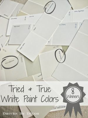 Driven By Décor: Picking a White Paint Color: 8 Proven Winners