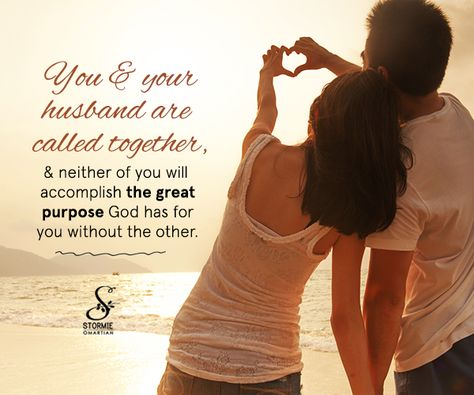 Can you imagine your life without your spouse? No! That's why God brought you together. He knows that together with Him at the center you can accomplish far more.