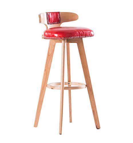 Lpz Stool Wood Bar Stool Bar Kitchens Dining Chair Breakfast Stool Tall Chairs High Stool Counter Chair Leisure Seat Dining Stools Bar Stools Wood Bar Stools