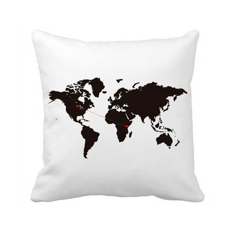 Custom+World+Map+Pillow+Case+Cover+Country+to+Country+Long+Distance+Relationship+#PillowDcor