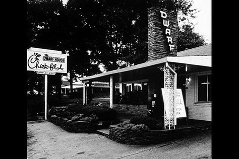 This is where Chick-fil-A originated. The Dwarf House, in Hapeville, GA, is where Truett Cathy began his restaurant business. My brothers and I grew up in nearby East Point, and we considered a trip to the Dwarf House a real treat.