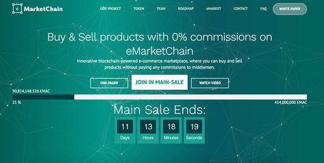 Emarketchain Ico At Glance Blockchain Social Media Influencer Fast Growth