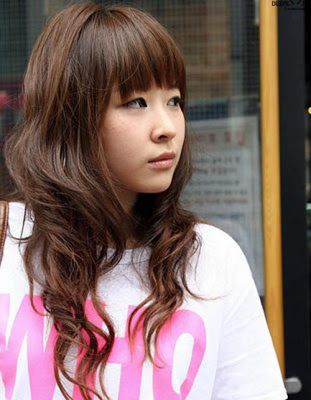 Korean Curly Hairstyle Ideas In 2020 Long Hair Styles Teenage Hairstyles Asian Hair