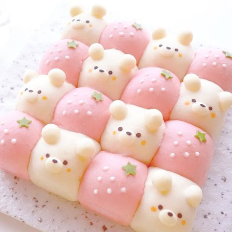 Cute Desserts, Dessert Recipes, Comida Disney, Cute Baking, Kawaii Dessert, Japanese Snacks, Cafe Food, Aesthetic Food, Food Art