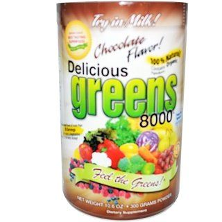 Greens World Delicious Greens 8000 Chocolate Flavor Powder 10 6 Oz 300 G Iherb Chocolate Flavors Delicious Flavors