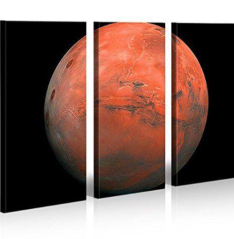 Light Space Weltall Panorama Format Bild auf Leinwand Wandbild Poster