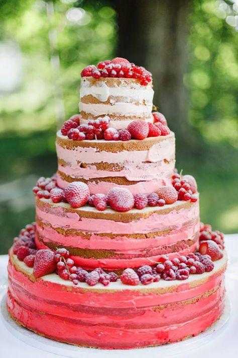 Strawberry ombre #cake
