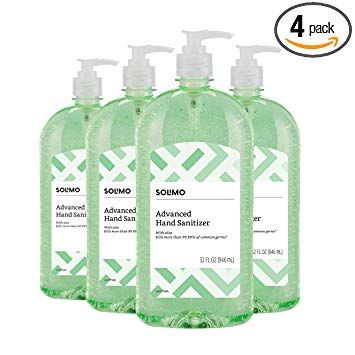 Amazon Brand Solimo Hand Sanitizer With Vitamin E And Aloe 32
