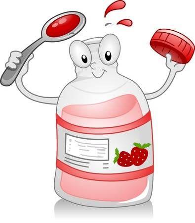 Ilustracion De Una Botella De Jarabe De Sostener Una Cuchara Jarabe Jeringa Dibujo Decoraciones De Guarderia