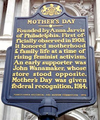 Mother S Day Historical Marker In Downtown Philadelphia