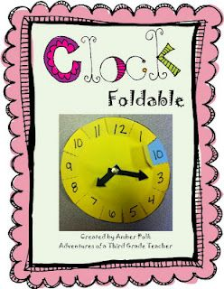 Free foldable clock template that shows clock numbers to minutes equivalents