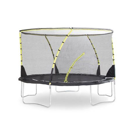 Plum Play Whirlwind 12 Foot Trampoline With Safety Enclosure Black Green Walmart Com Trampoline Plum Trampoline Trampoline Accessories