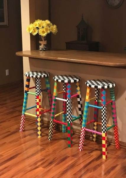 Painting Wood Chairs Ideas Bar Stools