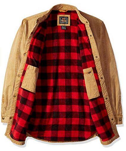Walls Men S Bandera Vintage Duck Shirt Jacket Big Tall Pecan