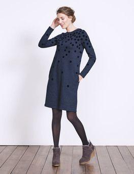 Sweatshirtkleid Mit Beflockten Tupfen Boden Sweatshirt Kleid