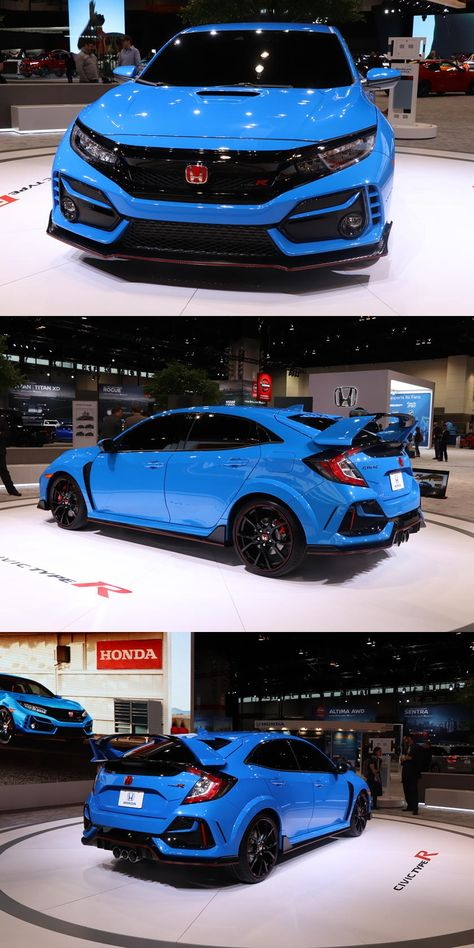 2020 Honda Civic Type R Arrives In Chicago With Outrageous New Color Honda S Hot Hatch Gets A Wealth Of P In 2020 Honda Civic Type R Honda Civic Hatchback Honda Civic