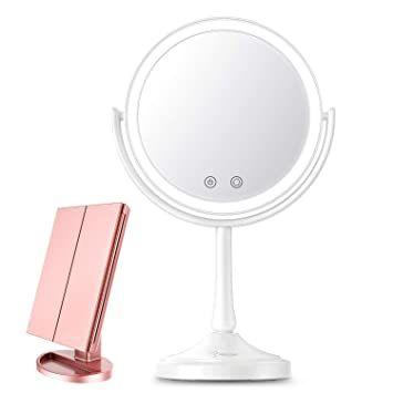 Bestope Makeup Vanity Mirror With Lights 2x 3x 7xmagnification Touch Screen Ad In 2020 Makeup Vanity Mirror With Lights Mirror With Lights Wall Mounted Makeup Mirror