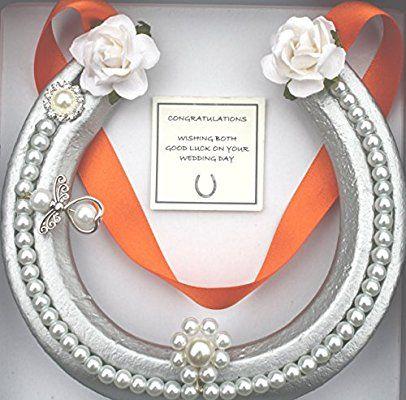 Ribbon Wedding Horseshoe Horseshoe Horseshoe Gift Decorative