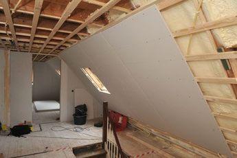 Dammung Der Dachschragen Dach Dammen Dammung Dach Dachboden Renovierung