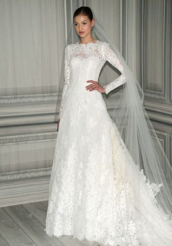 My Fat Catholic Wedding Monique Lhuillier Lace Sleeves Dress Mr Mrs Taylor Dresses Gowns
