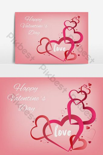 Valentines Heart Decorative Heart Background With Valentines Love Vector Graphics Element Png Images Eps Free Download Pikbest Invitation Card Format Free Invitations Wedding Invitation Card Template