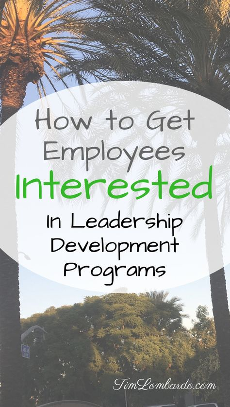 How to Get Employees Interested in Leadership Development Programs   Tim Lombardo