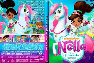 Nella Uma Princesinha Corajosa Capa Desenho Dvd Princesas