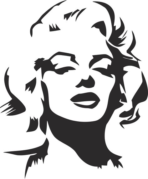 Marilyn Monroe Stencil Vector Coreldraw Vector (.cdr) file free download - 3Axis.co