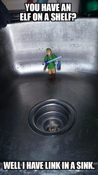 Lol Elf On The Shelf Your Children Love Their Elves On The Shelf And You Love Them For Hot Him These Toddlers Are P In 2021 Zelda Funny Zelda Memes