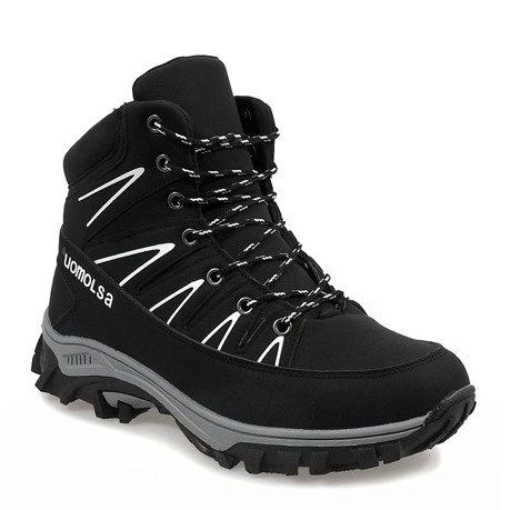 Czarne Ocieplane Sniegowce F 23 1 Hiking Boots Shoes Boots