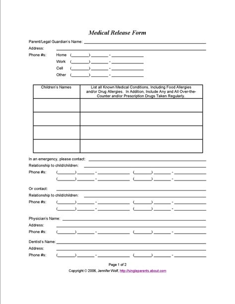 Use This Medical Release Form to Protect Your Kids in an Emergency - what is it incident report