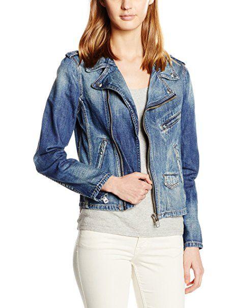 info for e2228 7dcf3 Schott NYC Damen Jacke Denim Perfecto Biker Jacket Blau-Blau ...