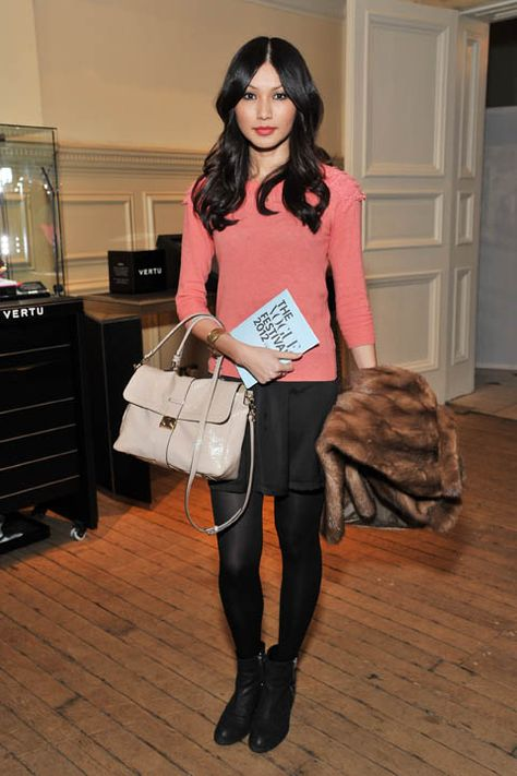 Gemma Chan at the Vogue Festival 2012 at the Royal Geographic Society. Photographed by Nick Harvey/Getty Images.