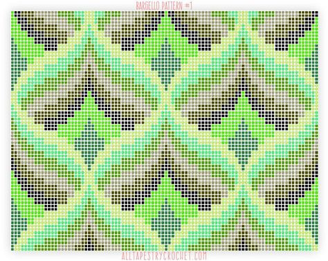 Bargello Pattern #1 - Free tapestry crochet pattern from AllTapestryCrochet.com