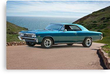 1967 Chevelle Super Sport Ss396 Canvas Print By Davekoontz Vintage Sports Cars Concept Cars Muscle Cars